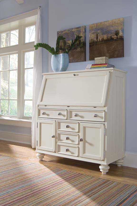 Compare S American Drew Camden White Drop Lid Work Station