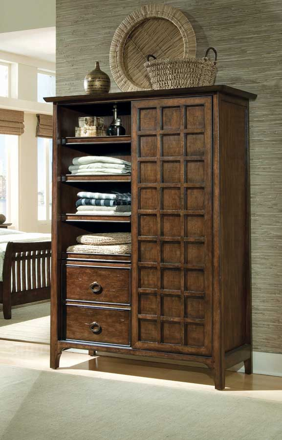 American Drew Cambria Sliding Door Armoire