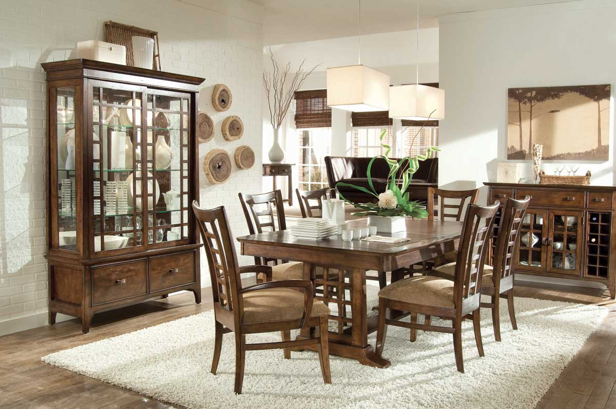 American Drew Cambria Trestle Dining Collection