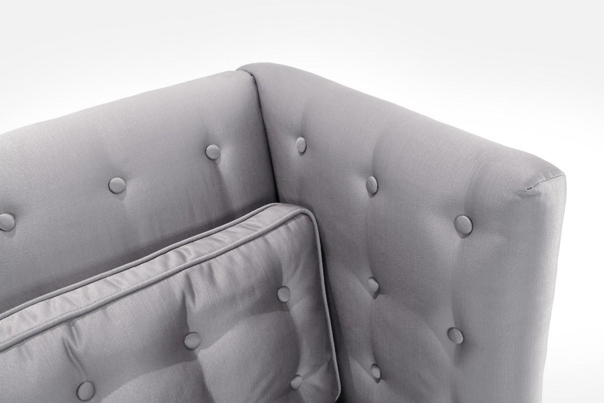 Armen Living Noho Loveseat Silver Sat-inch Fabric