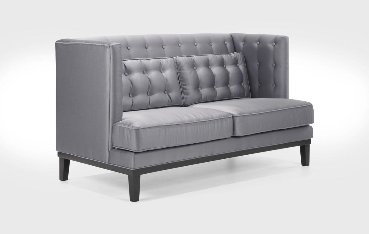Armen Living Noho Sofa Set Silver Sat Inch Fabric Al