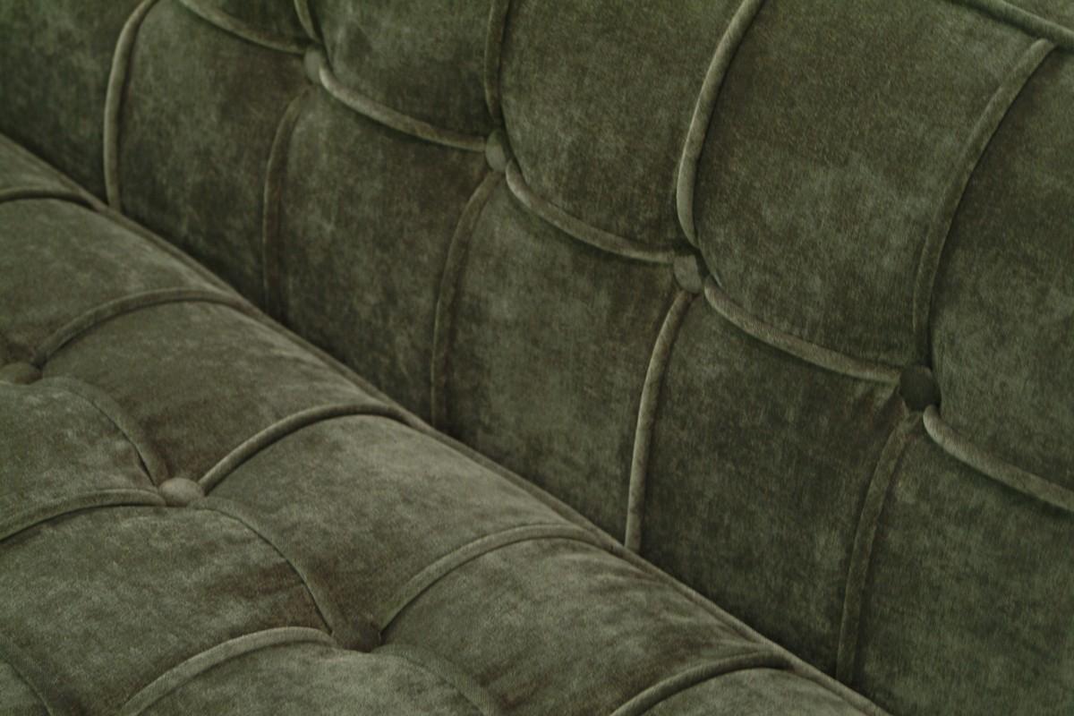 Armen Living Roxbury Sofa Tufted Green Fabric