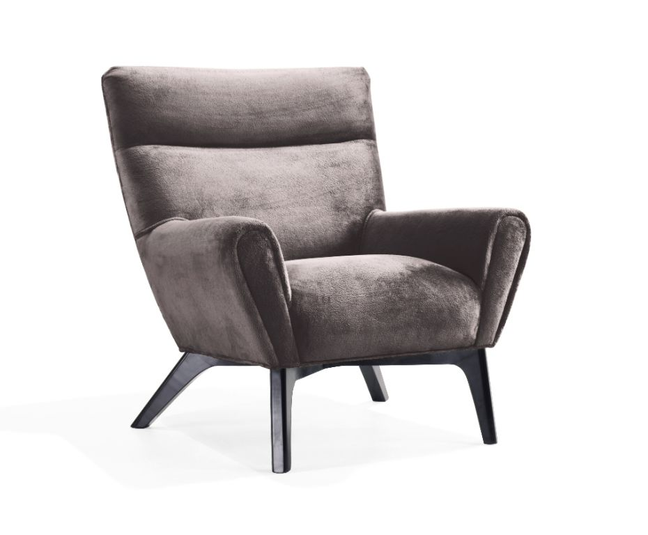 Armen Living Laguna Club Chair - Charcoal Fabric