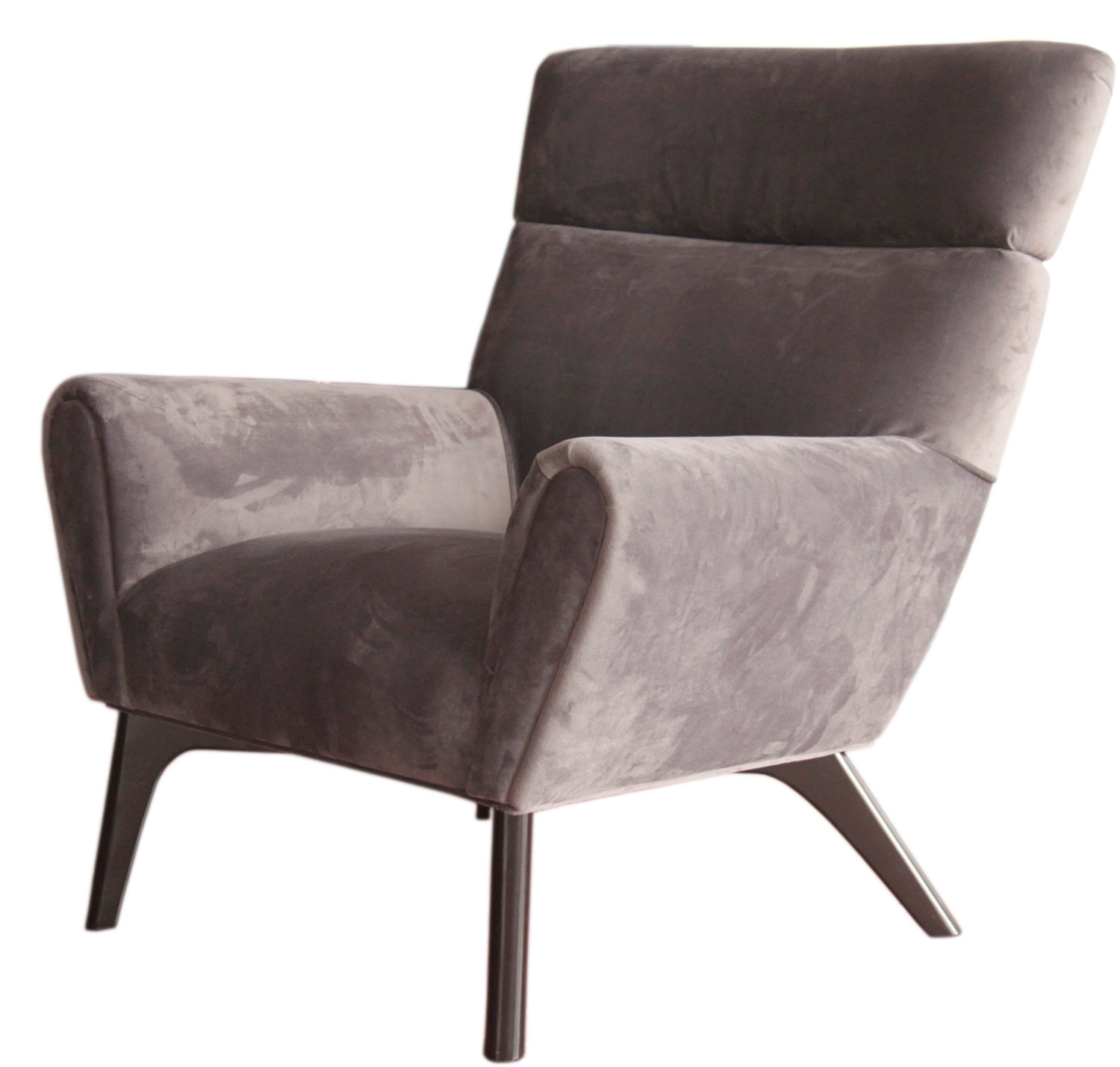 Armen Living Laguna Club Chair - Gunmetal Gray Fabric