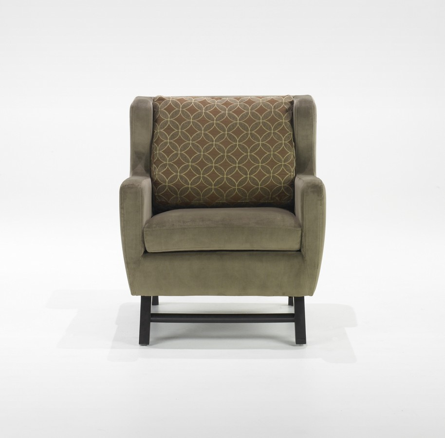 Midtown Club Chair MelloGreen Fabric Cover - Armen Living