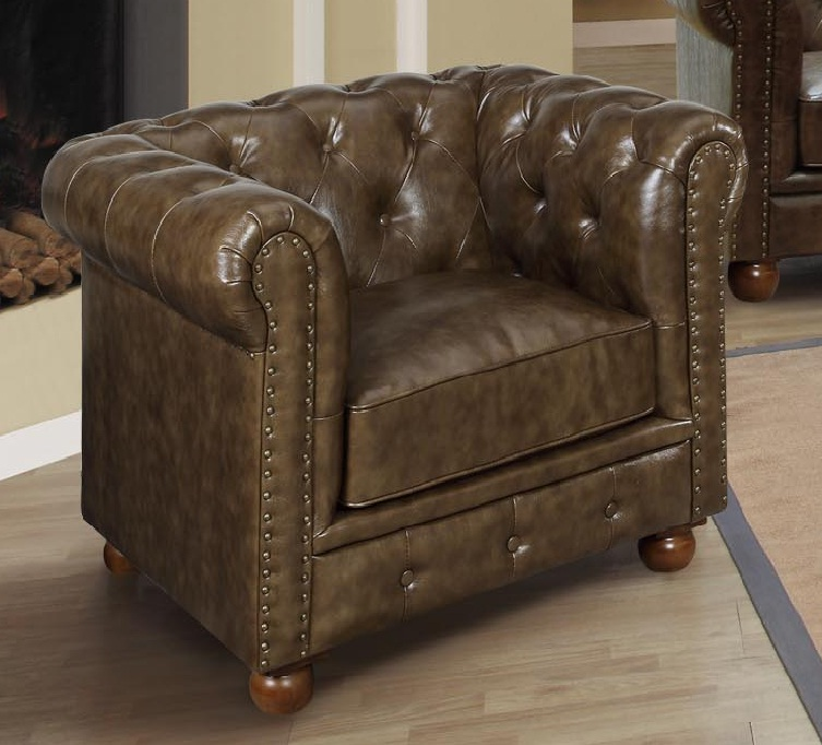 Armen Living Winston Chair - Mocha Vintage