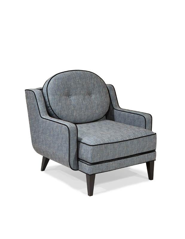 Armen Living Draper Chair - Azure