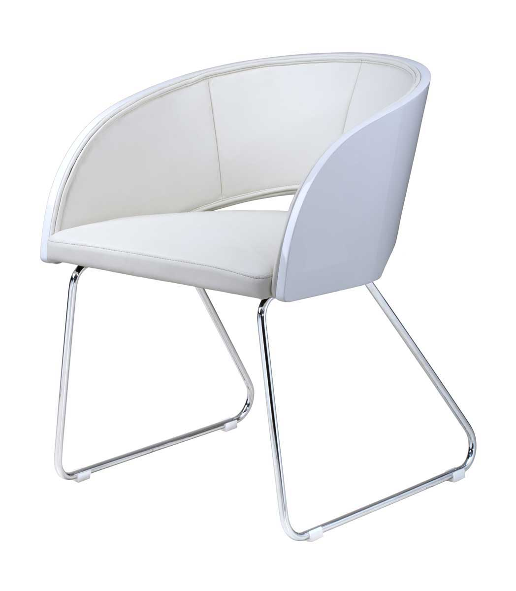 Armen Living Alpha Modern Club Chair - White