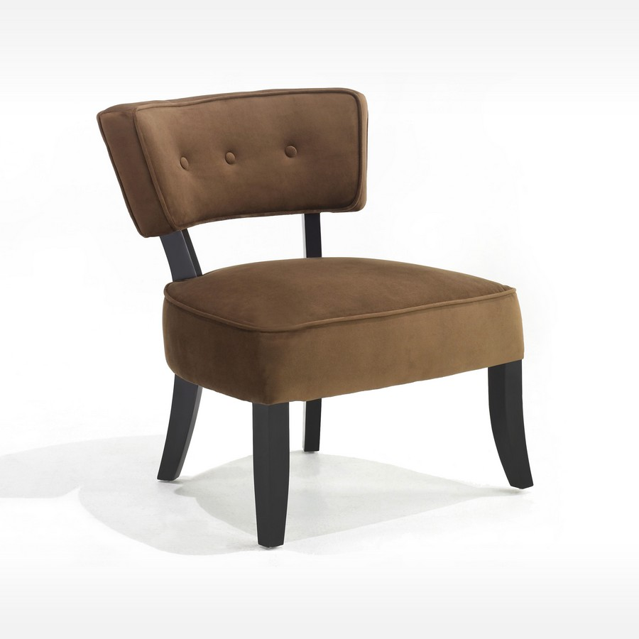 Armen Living Ashbury Club Chair - Brown Fabric