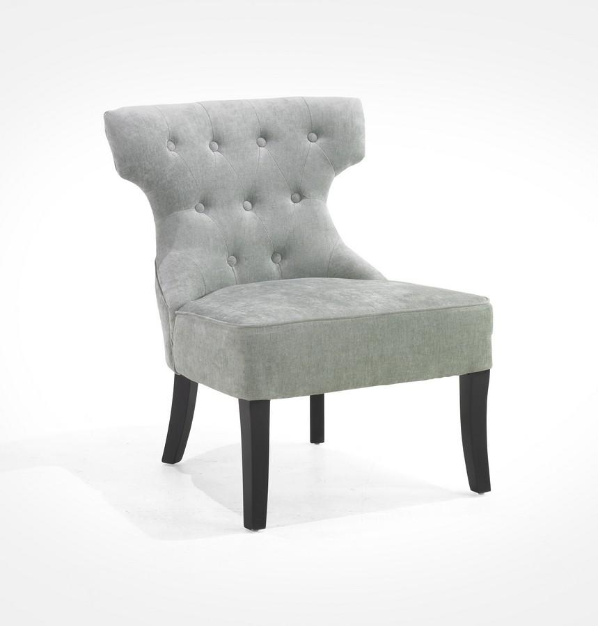 Armen Living Ritz Club Chair - Lagoon Color Fabric