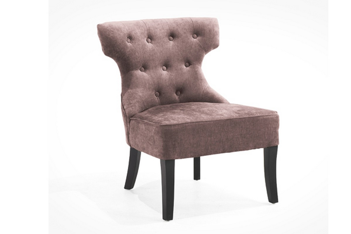 Armen Living Ritz Club Chair - Wisteria Color Fabric