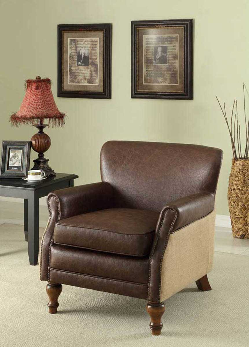 Armen Living Antique Brown Club Chair