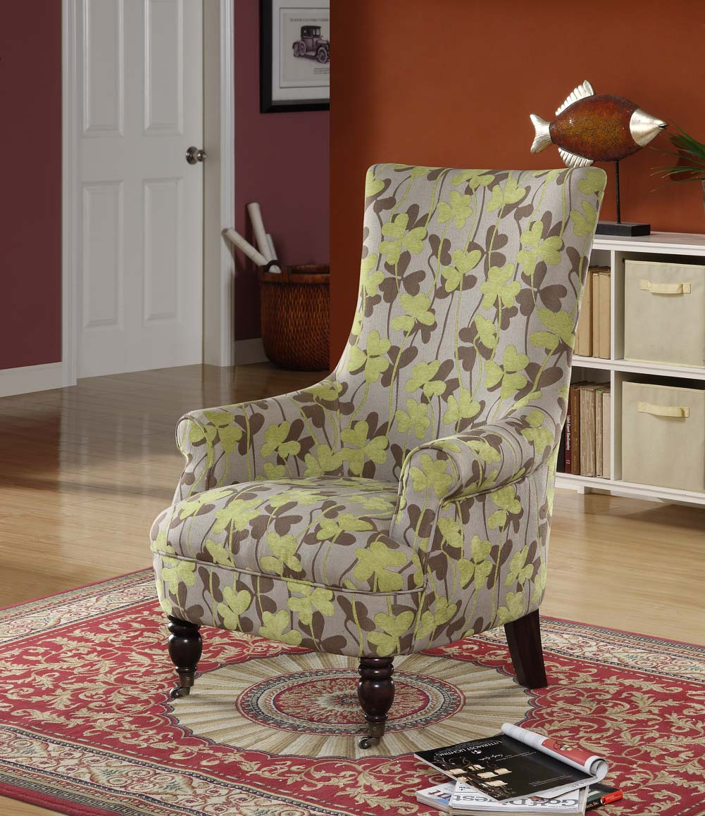 Armen Living Montclair Chair - Multi - Colored Vintage French Fabric