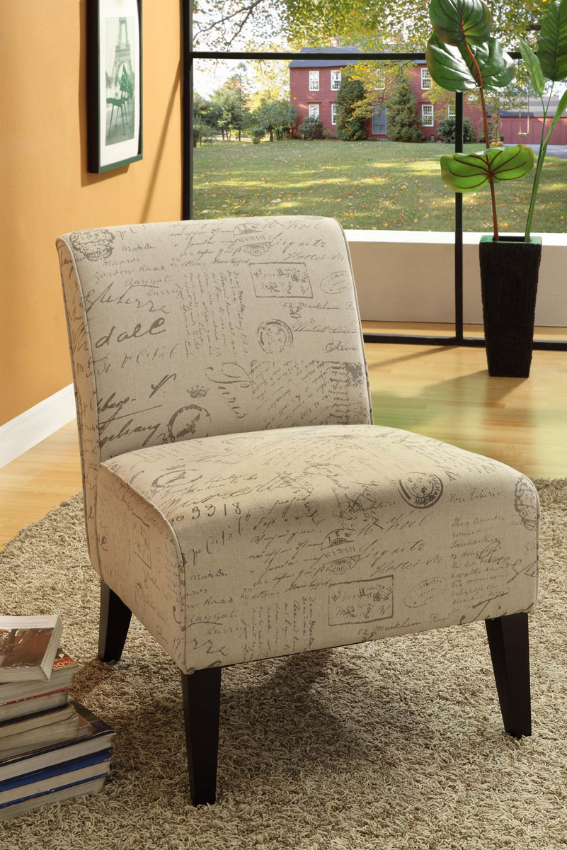 Armen Living Darby Chair - Printed Vintage French Fabric