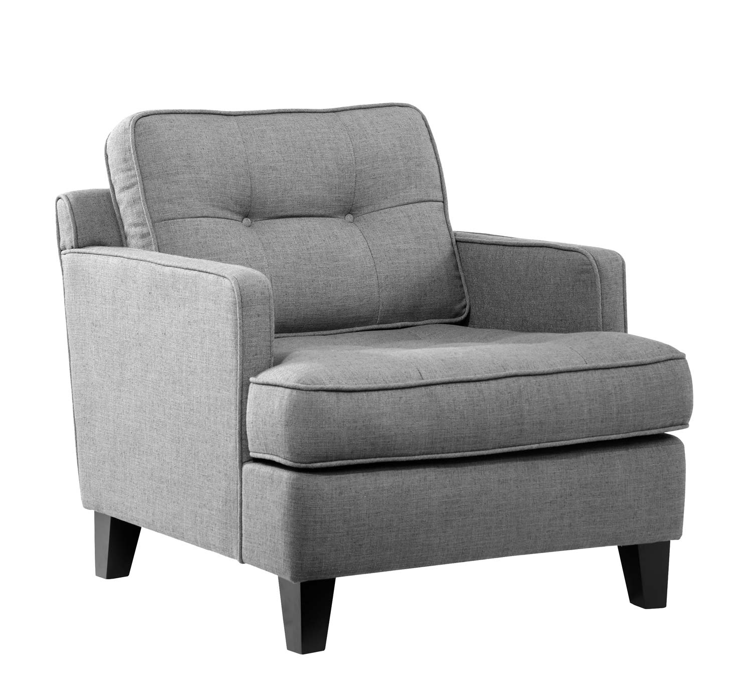 Armen Living Eden Arm Chair - Cement Gray Fabric