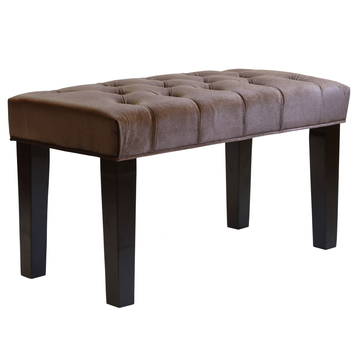 Armen Living Marilyn Bench 36 Inch In Brown Velvet Al Lc2608tube36br At