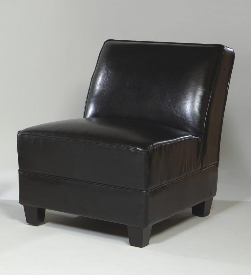 Armen Living Canyon Armless Club Chair - Black