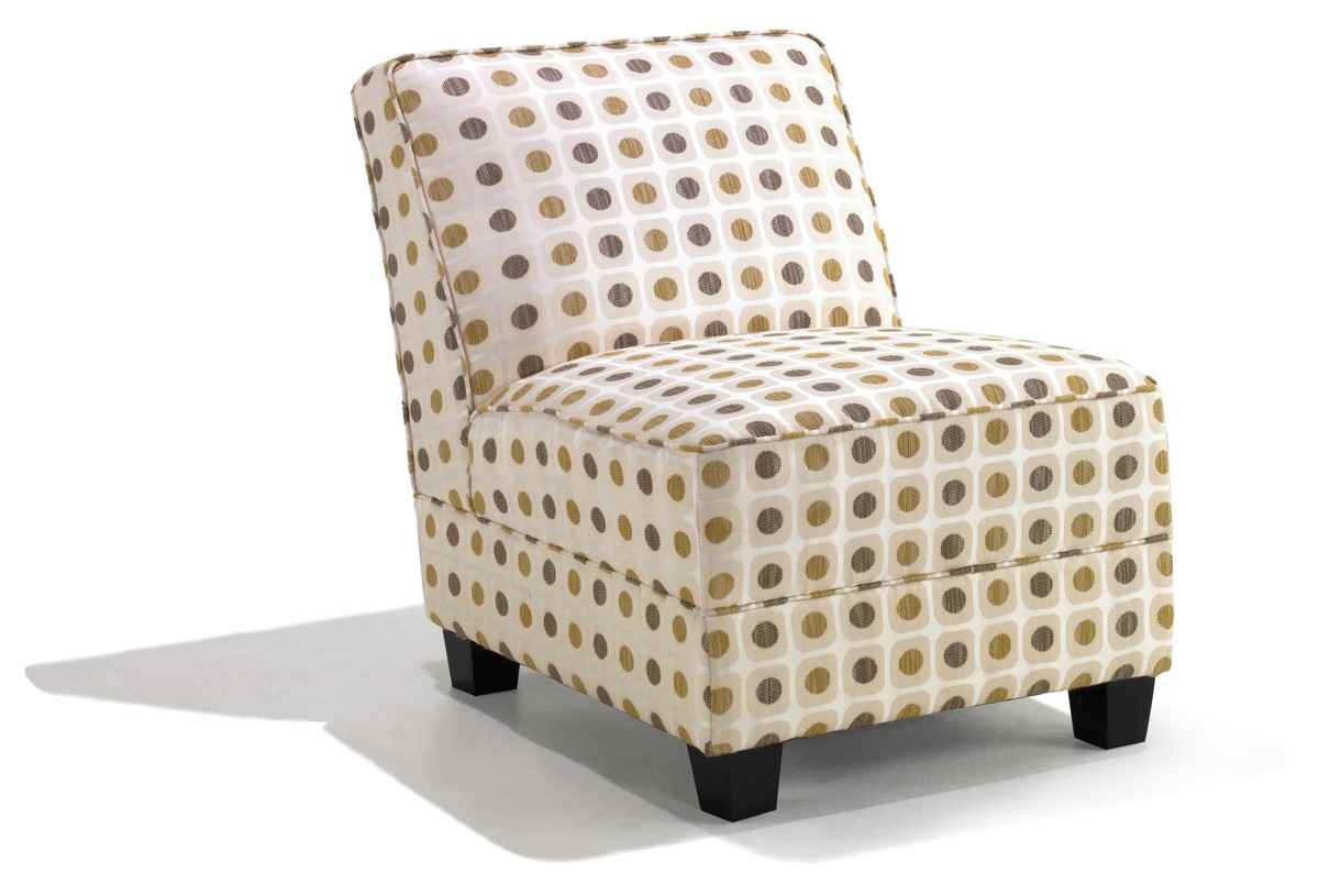 Armen Living Canyon Armless Cream Color Fabric Club Chair