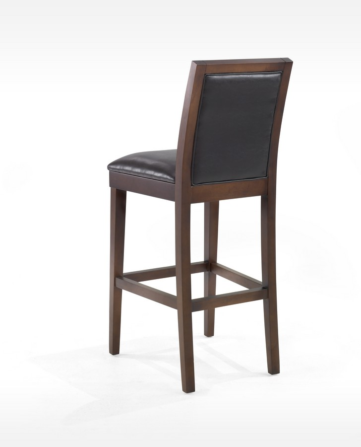 Armen Living Verona 26in Vinyl - Wood Stationary Barstool