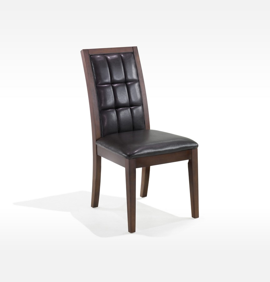 Armen Living Verona Side Chair - Antique Walnut