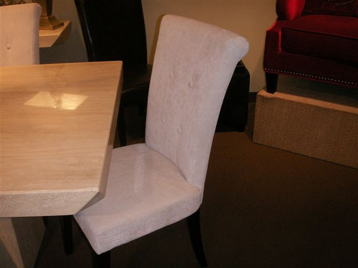 Armen Living Tuxford Tufted Tobacco Fabric Side Chair