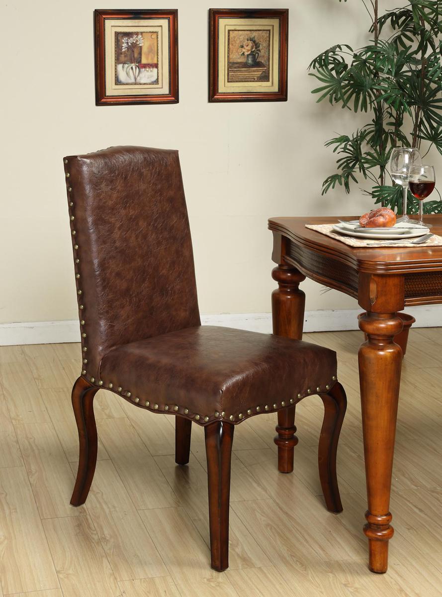 Armen Living Madeleine Chair - Mocha Vintage