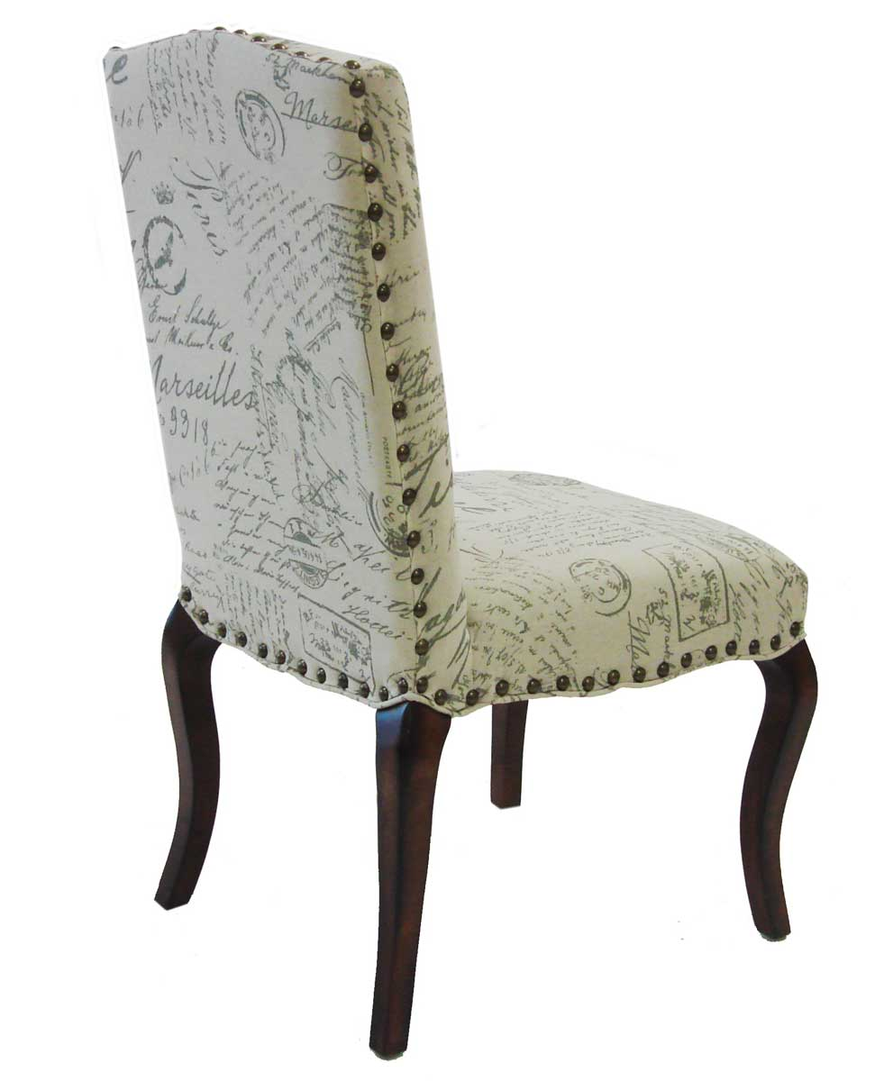 Armen Living Madeleine Vintage Chair French Fabric