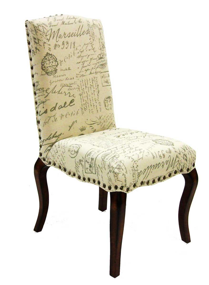 Armen Living Madeleine Vintage Chair - French Fabric Script