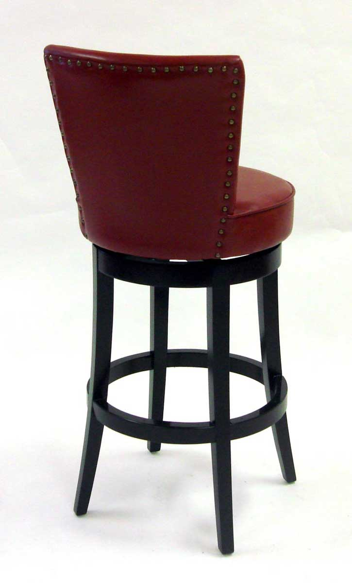 Armen Living Boston 26-inch Swivel Barstool - Red Bicast Leather