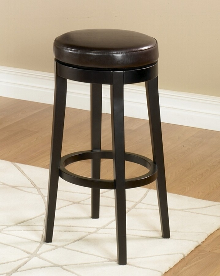 30 Inch Brown Bathroom Vanity Set With White Carrera: Armen Living Mbs-450 30-inch Backless Swivel Barstool