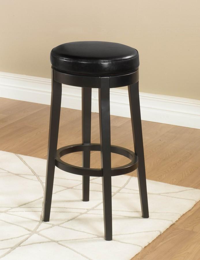 Armen Living Mbs-450 26-inch Backless Swivel Barstool - Black