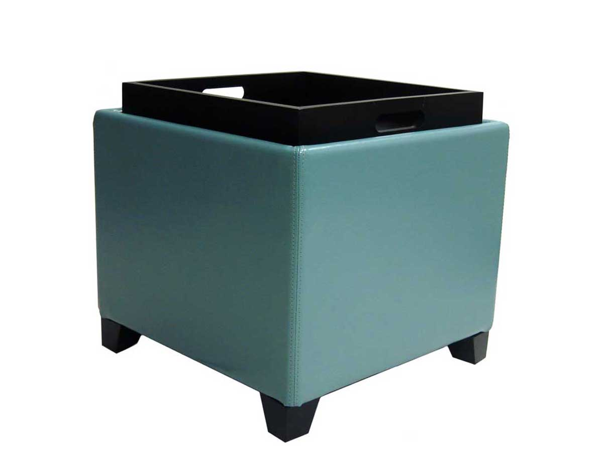 armen living contemporary storage ottoman with tray sky