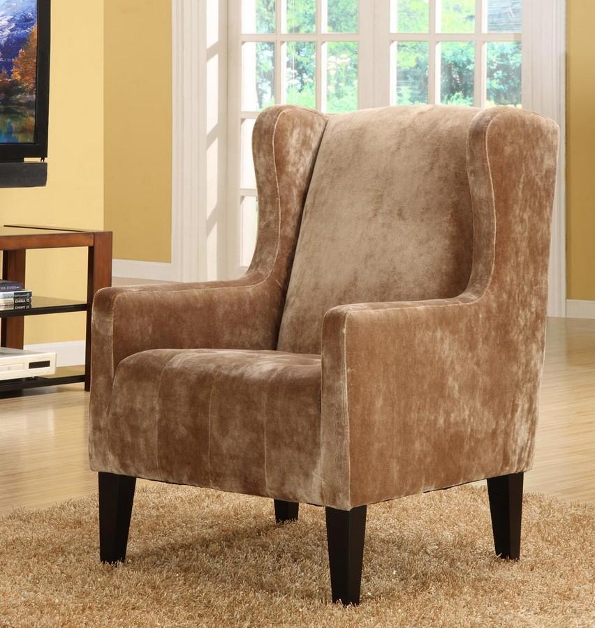 Armen Living Madera Brown Club Chair
