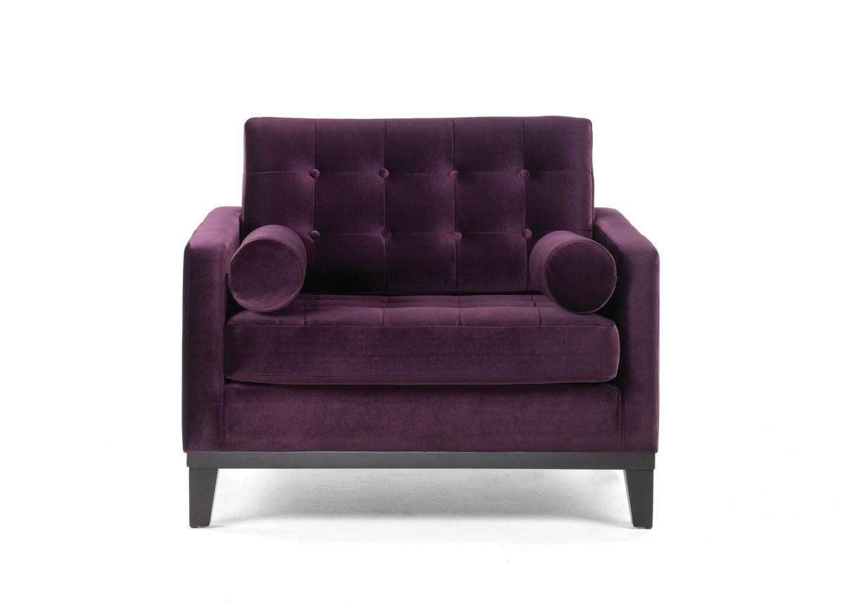 Armen Living Centennial Chair Purple Velvet