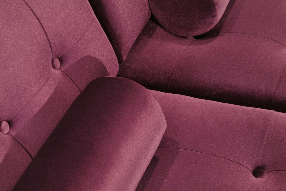 Armen Living Centennial Loveseat Purple Velvet