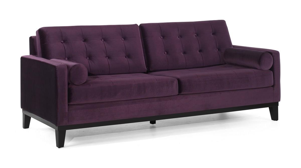 Charmant Armen Living Centennial Sofa Purple Velvet