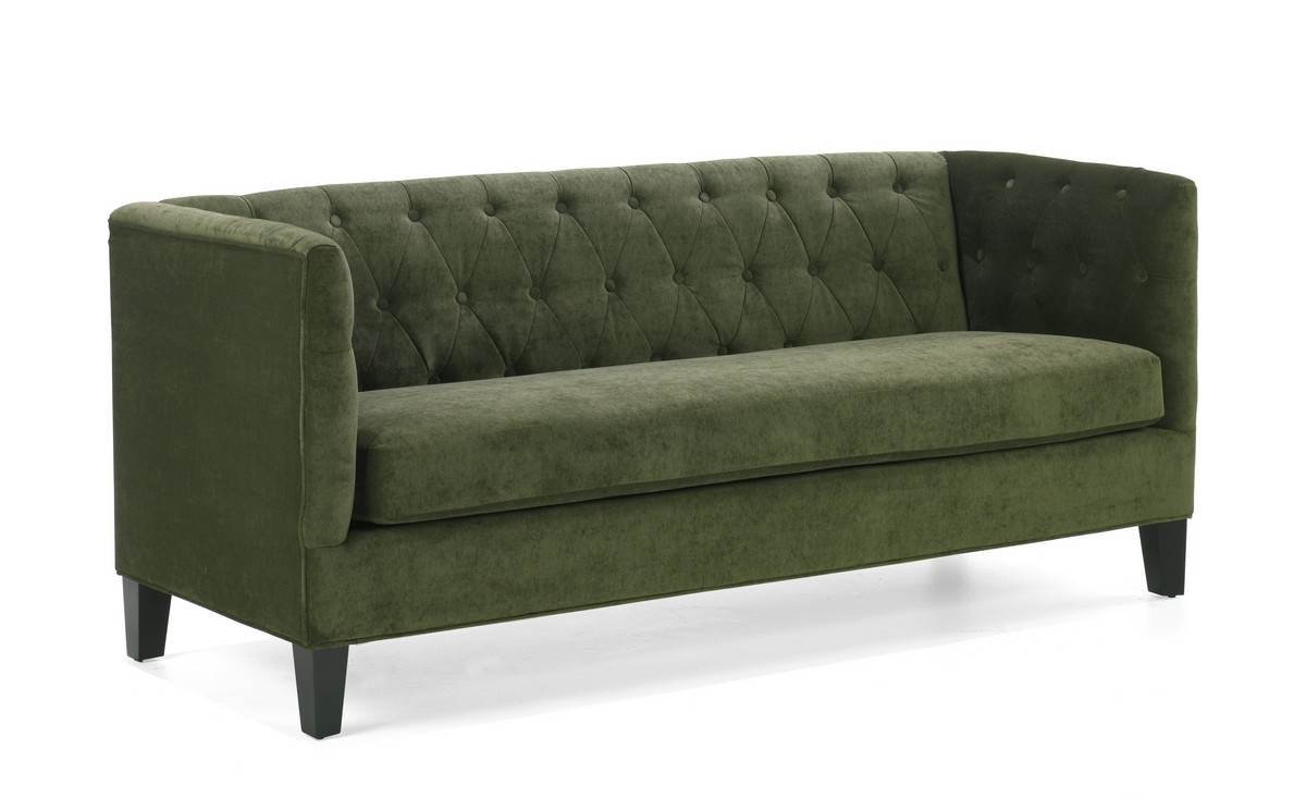 Armen living melrose sofa set green chenille lc8433gr set for Green chenille sectional sofa