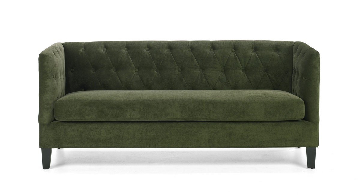 Green chenille sofa fabric living room storage sleeper for Green chenille sectional sofa