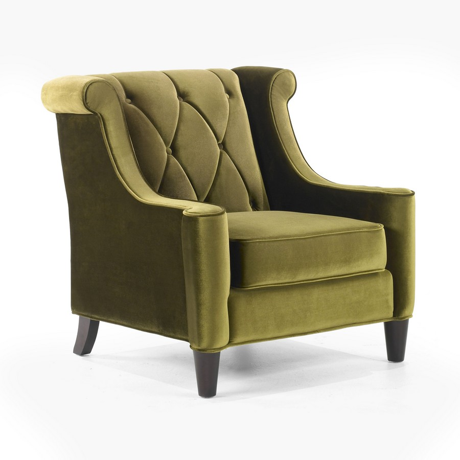 Armen Living Barrister Chair Green Velvet