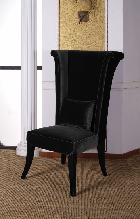 Armen Living Mad Hatter Dining Chair - Black