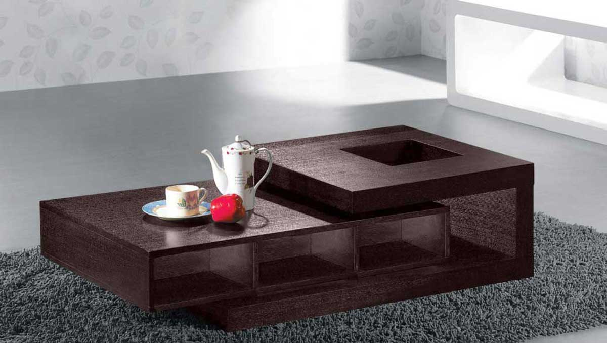 Armen living modern coffee table wenge oak veneer open for Coffee table texture
