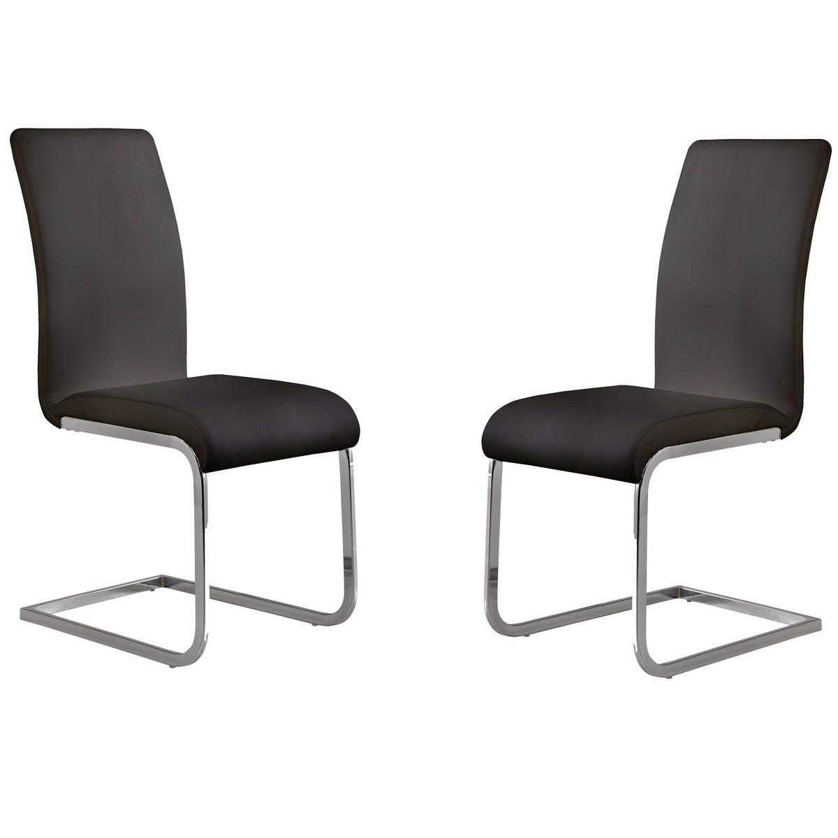 Armen Living Amanda Black Side Chair