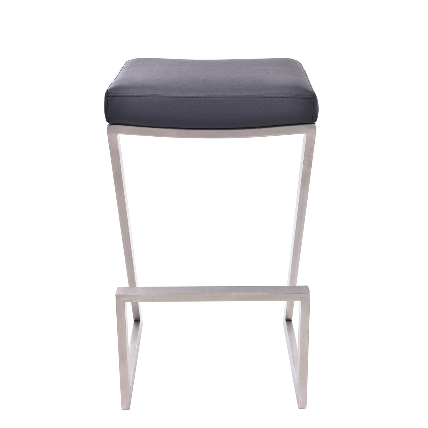 Armen Living Atlantis 26-inch Backless Bar Stool - Black Leatherette
