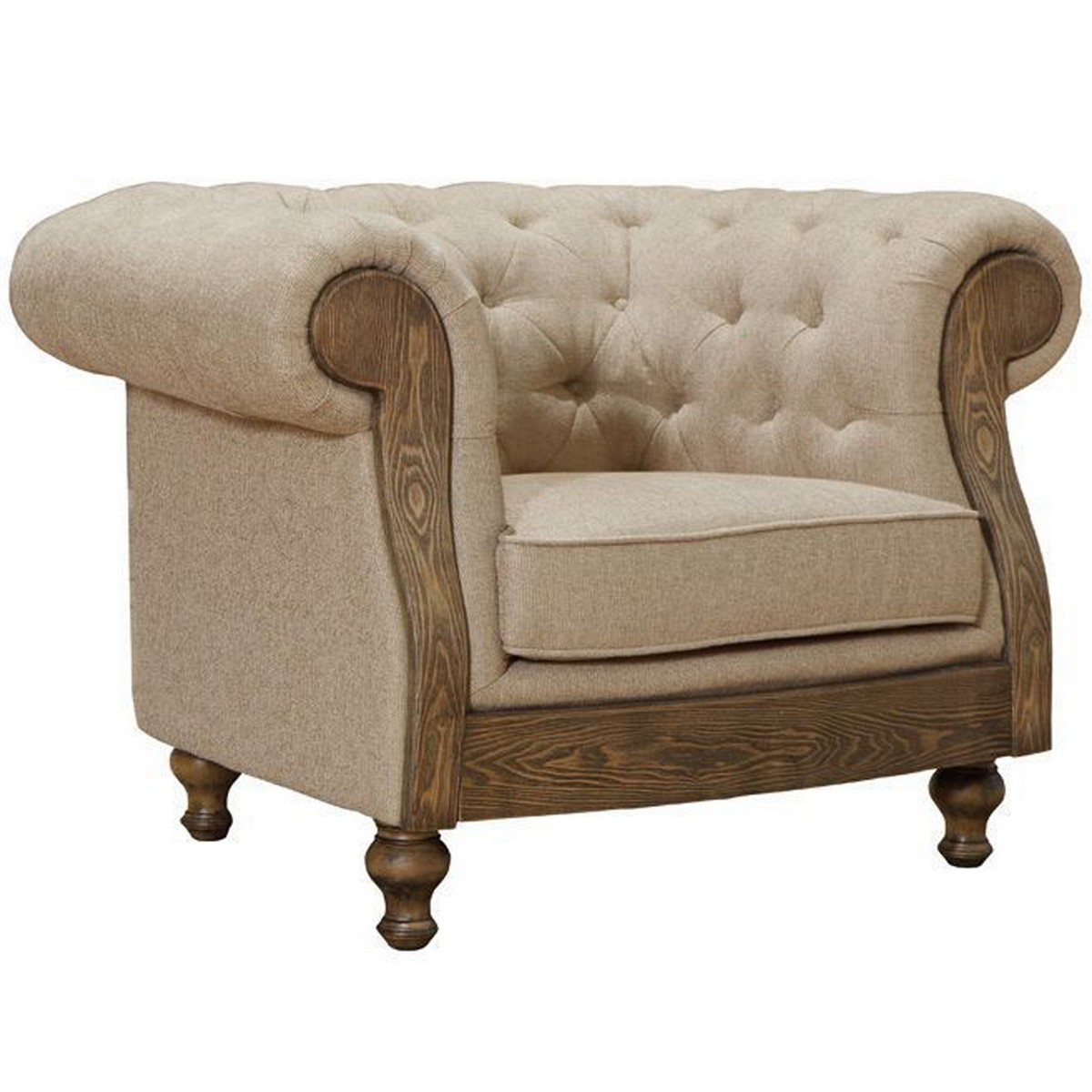 Armen Living Barstow Chair In Sand Fabric