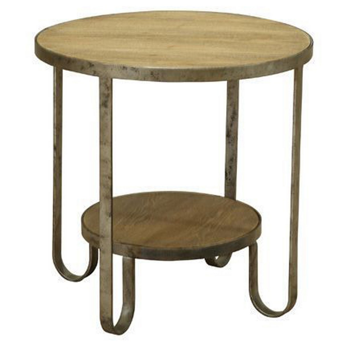 Armen Living Barstow End Table With Gunmetal Frame