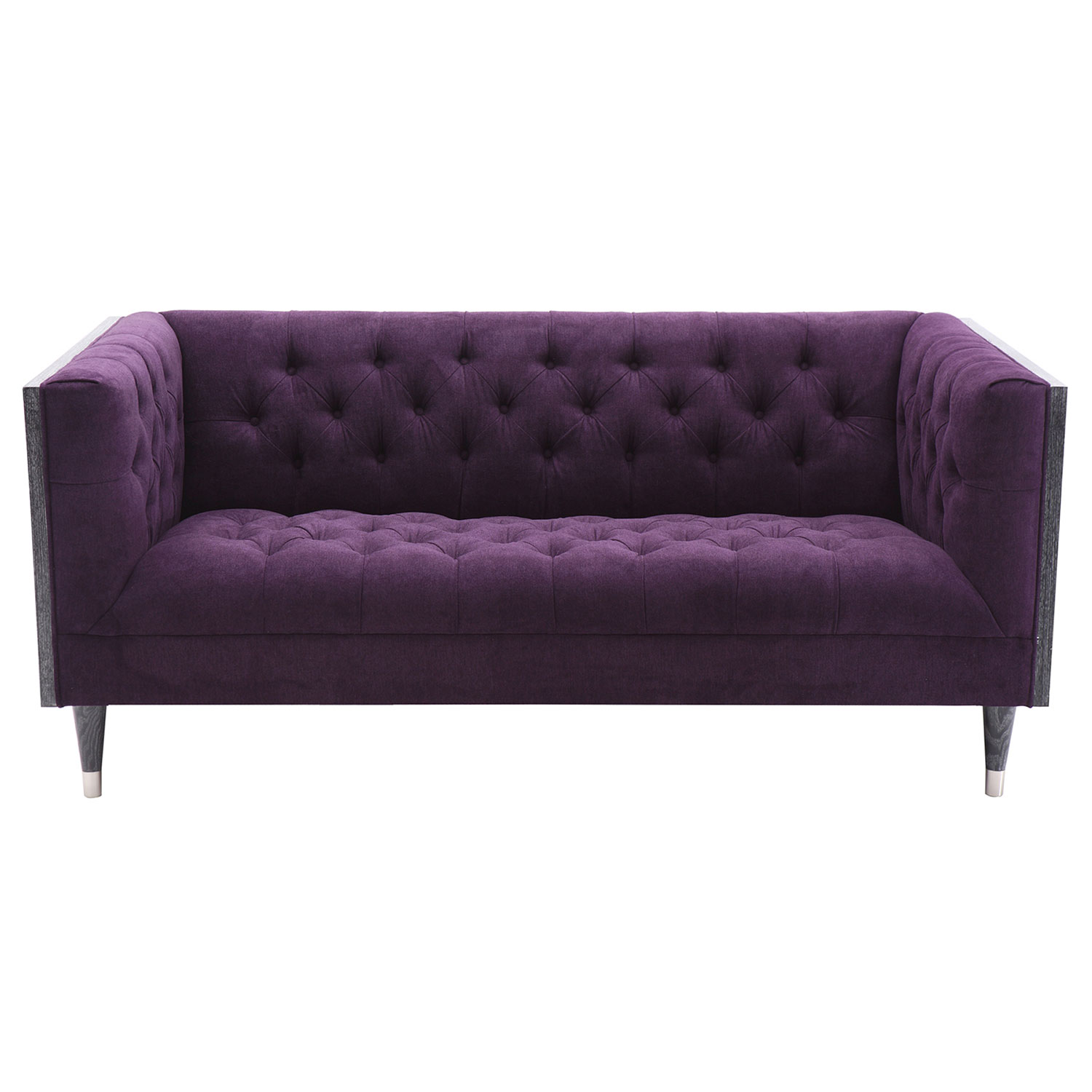 Armen Living Bellagio Loveseat Purple Fabric Al Lcbe2pu At