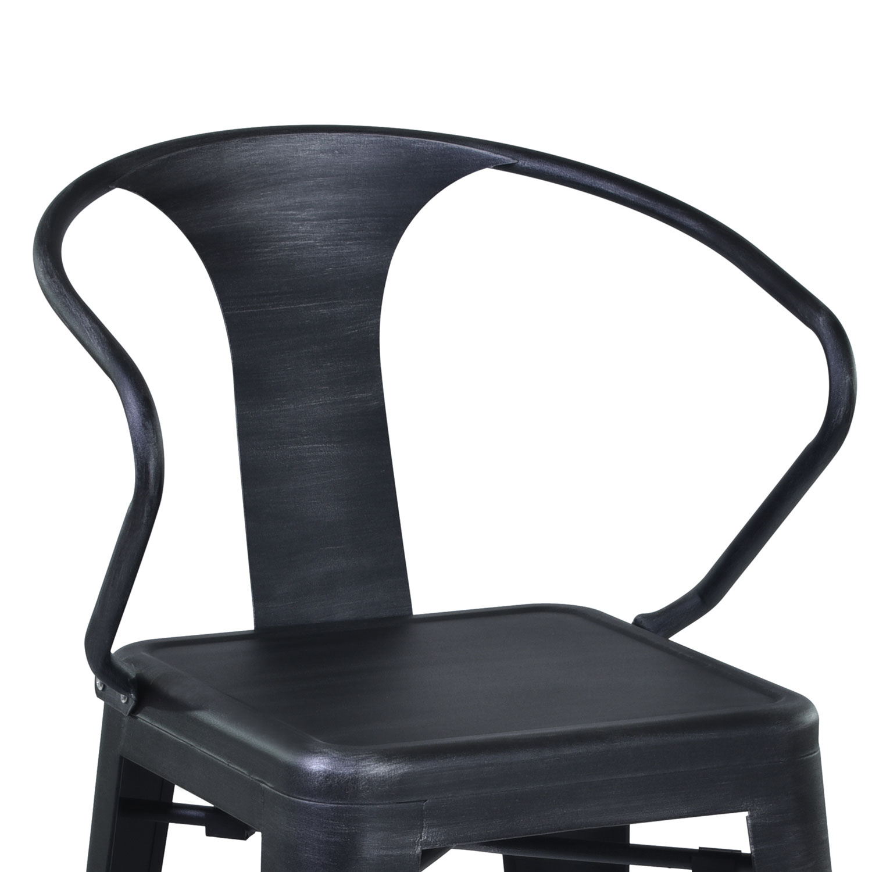 Armen Living Berkley 26-inch Bar Stool - Grey Clear/Seat