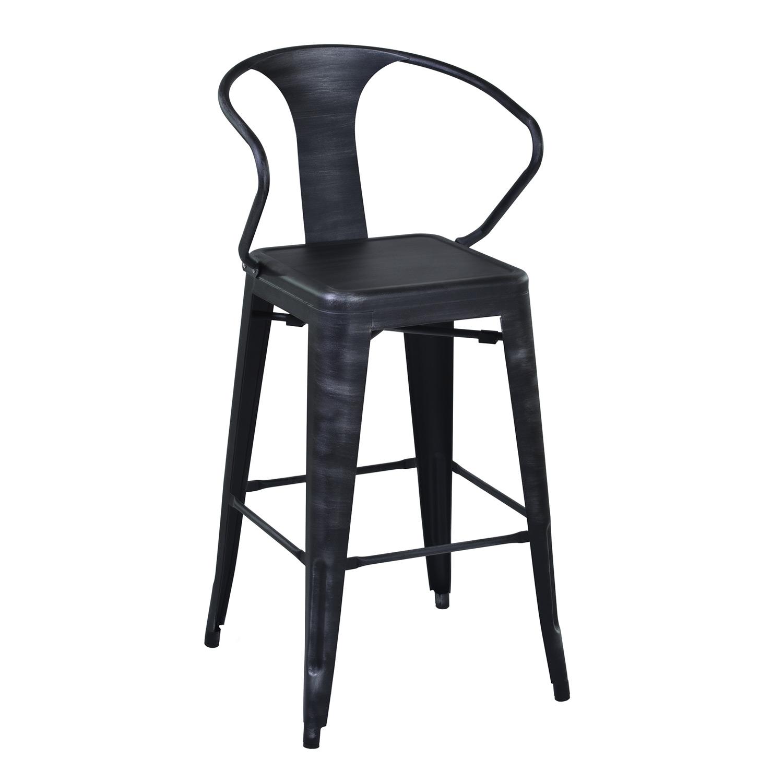 Armen Living Berkley 30-inch Bar Stool - Grey Clear/Seat