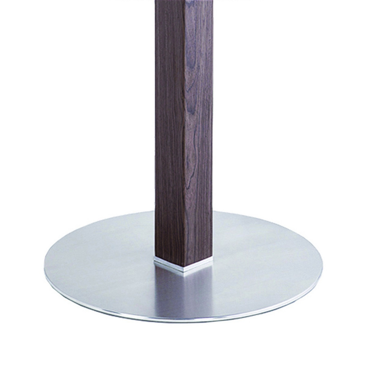 Armen Living Cafe Brushed Stainless Steel Dining Table with Clear Glass