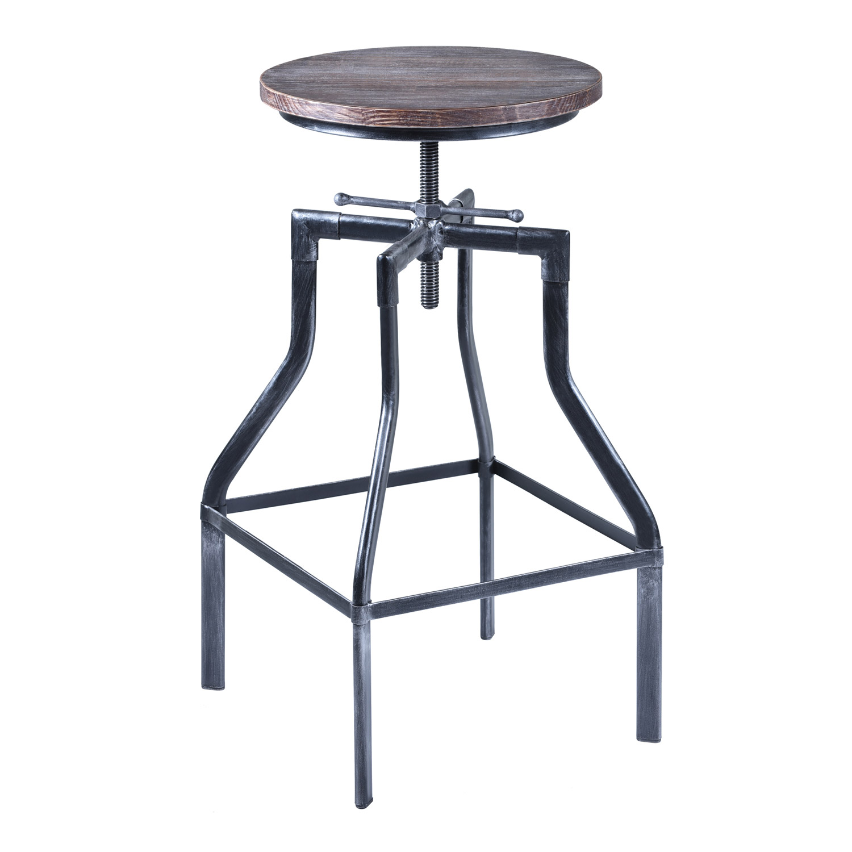 Armen Living Concord Adjustable Bar Stool - Grey
